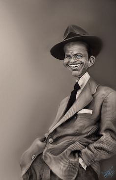 """from wikipedia: Francis Albert """"Frank"""" Sinatra,(December 1915 – May was an American singer and film actor. Beginning his musical career in the swing era with Harry James and Tommy Dorsey, Sinatra found unprecedented s Funny Caricatures, Celebrity Caricatures, Celebrity Drawings, Cartoon Drawings, Cartoon Art, Horse Drawings, Films Western, Tommy Dorsey, Caricature Drawing"""