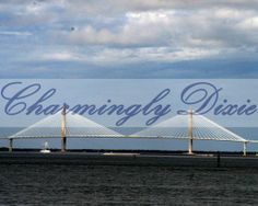 Ravenel Bridge Charleston SC  signed matted by CharminglyDixie, $10.00