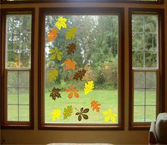 Herbst Blätter aussschneiden Fensterbilder