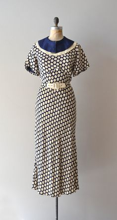 1930s vintage dress- I really want a beautiful color on Laura and think this would be a great day look for her.