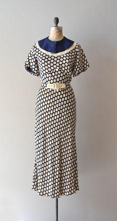 ~1930s dress / vintage 30s dress / Miss Minnie dress~