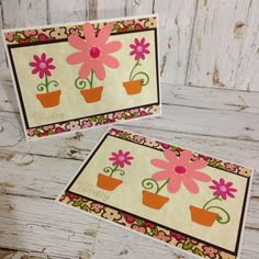 Flower Sympathy Cards by Greeting Grub Cards, made using Sizzix flower dies