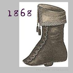 Ladies Overshoe Gaiter or Spats  Victorian by RepeatedOriginals