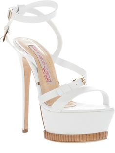 Gianmarco Lorenzi Platform Sandal in White | Lyst