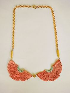 vestida de domingo shop: collares ganchillo