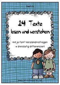 14 Lesetexte für die 4. bis 6. Klasse mit Verständnisfragen (differenziert)