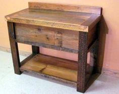 BarnWood Vanity Vintage Reclaimed Wood Wash by BarnWoodFurniture72