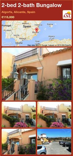Bungalow for Sale in Algorfa, Alicante, Spain with 2 bedrooms, 2 bathrooms - A Spanish Life Valencia, Portugal, Spanish Towns, Modern Properties, Bungalows For Sale, Alicante Spain, Open Fires, Family Bathroom, French Doors