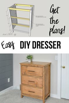Simple DIY dresser for beginner woodworkers! How to build a basic DIY dresser for cheap using basic lumber. Simple DIY dresser for beginner woodworkers! How to build a basic DIY dresser for cheap using basic lumber. Diy Furniture Plans Wood Projects, Woodworking Projects Diy, Woodworking Plans, Modern Furniture, Youtube Woodworking, Wood Furniture, Woodworking Techniques, Dresser Furniture, Diy Projects