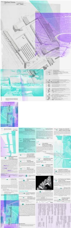 Bauhaus Dessau, Quarterly Program - Cyan, Berlin, 2013