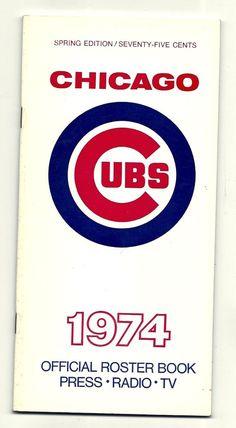 1974 Chicago Cubs Roster Book Press Radio Media Guide STEVE STONE Bill Madlock +
