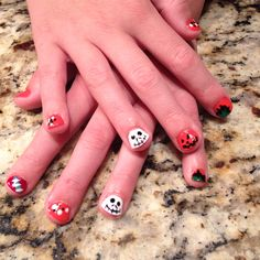Halloween nails for kids!!  The nightmare before Christmas theme!!  So fun!!!