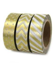 This Gold Washi Tape Set by Dress My Cupcake is perfect! #zulilyfinds