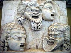 Mosaico del Drama romano, tambien conocida como Fábula cothurnata.