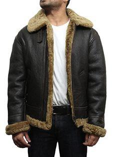 e823e6a107b Men s Aviator B3 World War2 Real Shearling Sheepskin Flying Jacket BNWT   Amazon.co.uk  Clothing