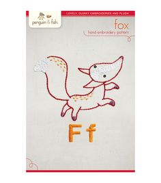 F - Fox Hand Embroidery Pattern