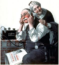 The Wonder of Radio (1922) by Norman Rockwell