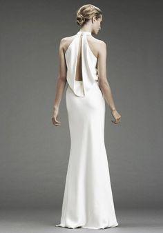 Halter neck wedding dress   itakeyou.co.uk: