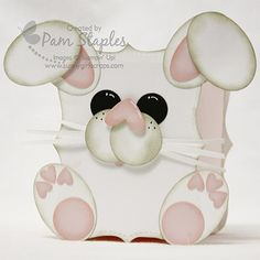 Punch Art Bunny Box created by #sunnygirlscraps.