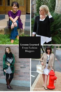 Lessons Learned about Fashion over 40 from my favorite fashion bloggers. http://mysideof50.com