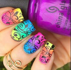 Here are some scale pattern nail stencils to give you gorgeous easy nail designs for beginners that are so cute and simple that you can do it yourself solutioingenieria Choice Image