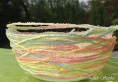 Muttertagsgeschenk oder Kindergeburtstags-Bastelidee: Wollkörbchen selbst machen ⋆ einfach Stephie