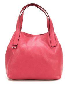 Mila Handtasche Leder pink 31 cm