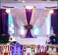 Sequin Wedding, Star Wedding, Trendy Wedding, Nautical Wedding, Wedding Stage Backdrop, Wedding Backdrops, Wedding Mandap, Wedding Props, Wedding Receptions