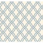 56 sq. ft. Harira Blue Moroccan Trellis Wallpaper-DL30617 - The Home Depot