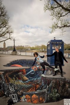 Something's happening today in London - it's Peter and Pearl with the monsters of Season 10!  Celebrate Doctor Who's return with an all-new season, premiering this Saturday at 9/8c on @bbcamerica.