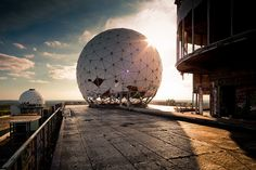 if you can get a chance to hike up devil's mountain (teufelsberg) on a sunny summer day you just might be in heaven. you will most likely have to break in or crawl under a fence, which is just the beginning of the excitement. the place is totally destroyed but if you bring a flashlight you can go through and see all the broken down madness of the old spy station. climb to the observation deck and have a picnic where you can see a panoramic view of all of berlin