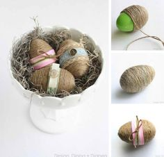 Shabby Chic Easter Eggs | Dollar Store Crafts For The Homestead