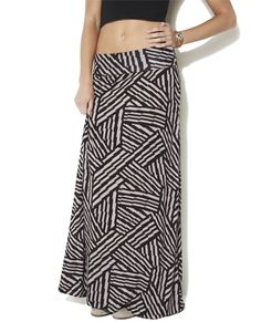 Barbwire Stripe Maxi Skirt from Wet Seal