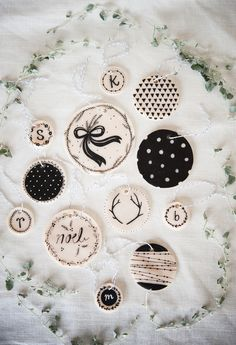 hand drawn ornaments and tags