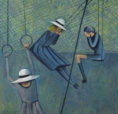 Children Playing, 1953, Charles Blackman. Australian