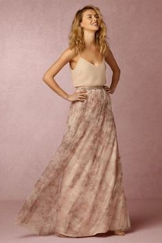 Jenny Yoo Arabella Long Printed Tulle Skirt - Lavender Floral in Clothing, Shoes & Accessories, Wedding & Formal Occasion, Bridesmaids' & Formal Dresses | eBay