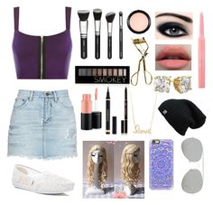 """""""Abigale"""" by clatosdaughter on Polyvore featuring WearAll, Yves Saint Laurent, TOMS, MAC Cosmetics, Forever 21, Christian Dior, Anastasia Beverly Hills, Sydney Evan, Casetify and Acne Studios"""