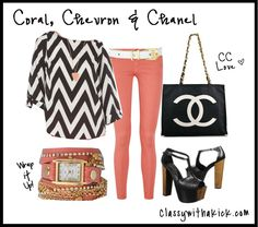 Revisiting the Past Coral Chevron, New Trends, Passion For Fashion, Lifestyle Blog, What To Wear, Personal Style, The Past, Chanel, Classy