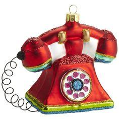 Oh What Fun: Pier 1 Retro Telephone Ornament