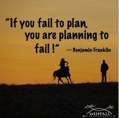 If you fail to plan