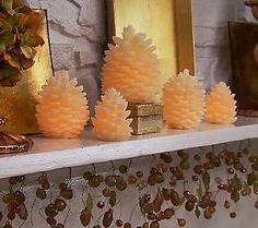 flameless pinecones