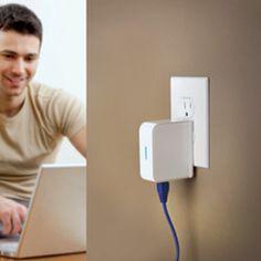 The Portable WiFi Signal Booster $49.95 #tech #gadget