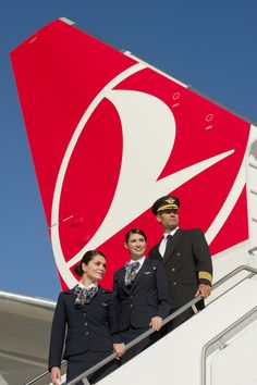 Turkish Airlines Cabin Crew. Love the colours of the Clothes of the Crew .
