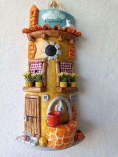 Teja decorada rustica con pozo