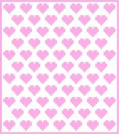 Hearts - C2C Crochet Pattern Blanket - INSTANT DOWNLOAD - Crochet Graph - Crochet Pattern - Blanket - Corner to Corner - PDF - Baby Blanket from CrochetC2CLily on Etsy Studio
