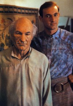 """Patrick Stewart and his son play father and son in the episode """"Inner Light"""" <<<< I didn't know that was his actual son!!! :D"""