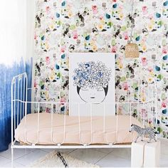 Meet Frankie. She's Pax & Hart's new friend. New season prints available online now. This amazing styling is by none other than one of my favorite stylists @liveloudgirl  photography  @nateleecocksphotography #paxandhart #newcollection #meetfrankie #frankie #prints #poster #kids #kidsroom #kidsdecor #kidsroom #kidsinteriors #styling #cot