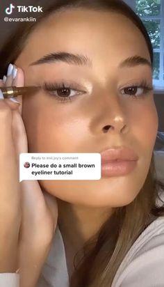 Makeup Eye Looks, Cute Makeup, Skin Makeup, Makeup Art, Beauty Makeup, Simple Makeup, Glow Makeup, Makeup Eyebrows, Highlighter Makeup