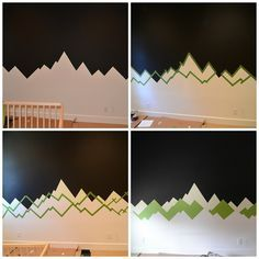 How to create a cool mountain mural for your kids nursery! #camping #outdoors #kids