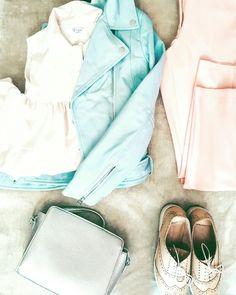 #stradivarius #blueleatherjacket #oxfordshoes #silverbag